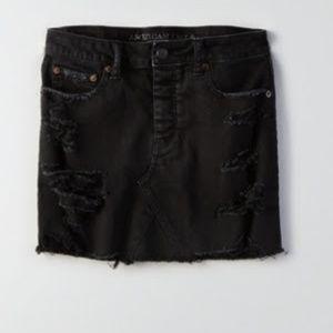 Vintage Black Jean Skirt